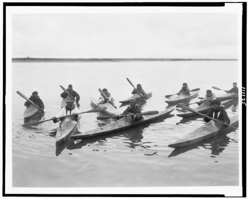 inuit in kayaks